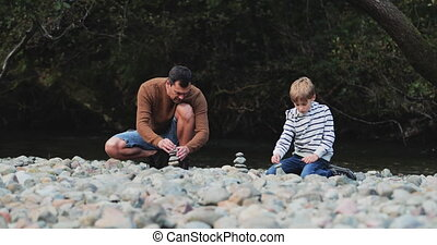 Building Cairns with Dad