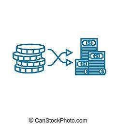 Building capital linear icon concept. Building capital line vector sign, symbol, illustration.