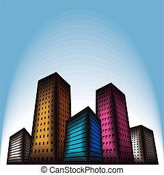 building city vector