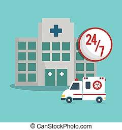 building clinic ambulance emergency 24-7