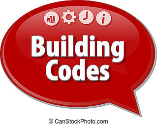 Building Codes  blank business diagram illustration