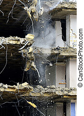 Building Collapsing or Falling Down - Building collapsing or...