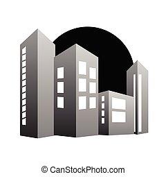 building color vector illustration