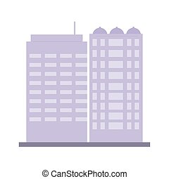 building commercial residential structure architecture urban isolated icon vector illustration