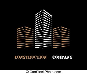 Building company logo - Logo of a construction company on a...