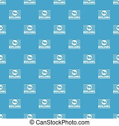 Building company pattern vector seamless blue