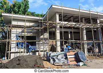 Building construct site - Building construct office in the...