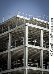 building construction, concrete beams