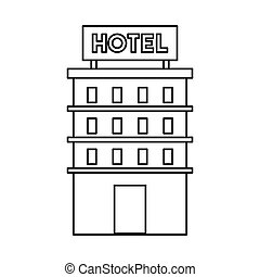 Building Construction Hotel Isolated Icon