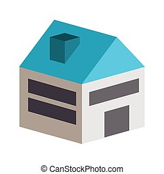 building construction isometric icon