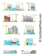 Building construction sites, store or warehouse