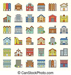 building construction vector filled outline icon set 2/3