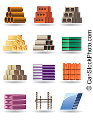 Building and constructions materials - vector illustration