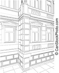 Building Corner Residential House