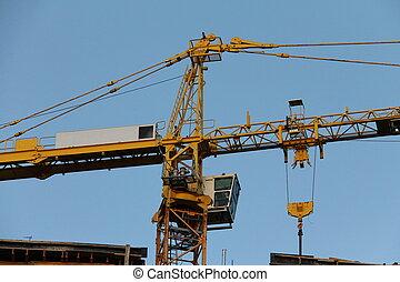 Building  crane. Detail