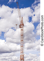 building crane on Cloudy sky background