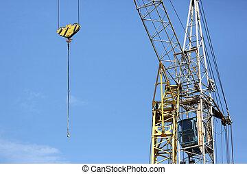building crane on sky background