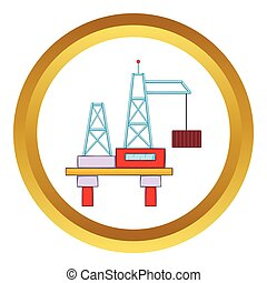 Building crane vector icon
