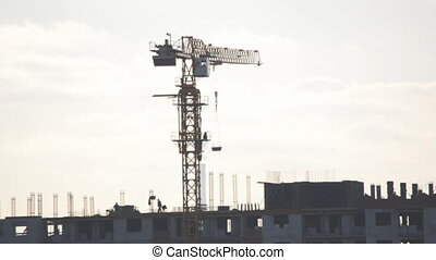 Building Crane Working Process