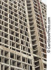 building design, home construction cement base close-up