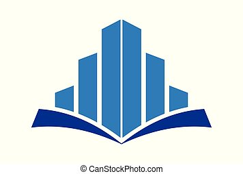 building education concept logo vector