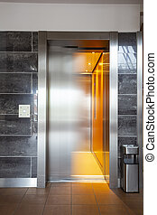 Building Elevator with moving door in apartment complex luxury