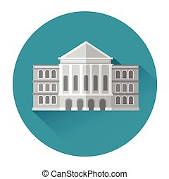 Building Estate Icon Flat Vector Illustration