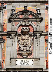 Building exterior at the Plaza Mayor in Madrid, Spain