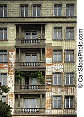 Building Facade in East Berlin, Friedrichshain
