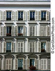 Building facade in Paris