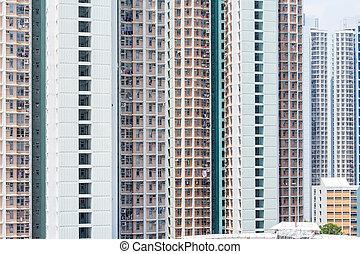 Building facade of multistory