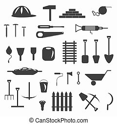 Building Facilities symbols vector illustration