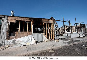 Building Fire Ruin