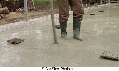 Building Foundation Vibration - Building concrete foundation...