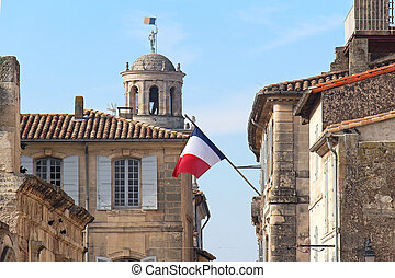 Building French flag