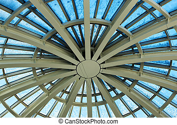 building glass construction roof