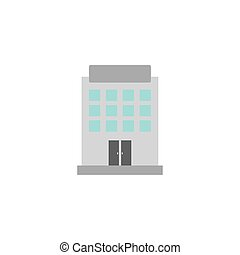 building hotel flat style icon