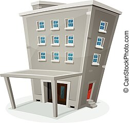 Building House With Offices Or Apartments