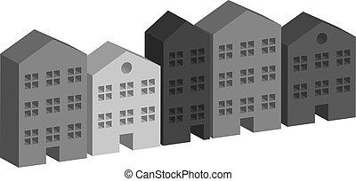 Building housing street in grey