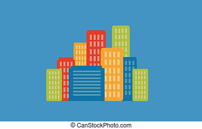 Building icon design vector flat illustration