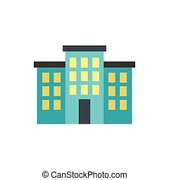Building icon, flat style