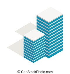 Building icon, isometric 3d style