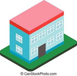 Building icon, isometric style