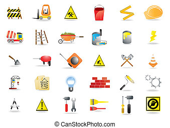 building-icons - Vector illustration of building and...