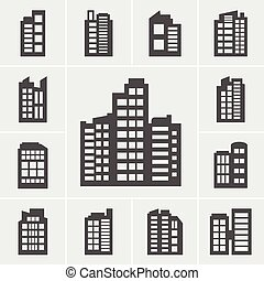 Building Icons illustration set