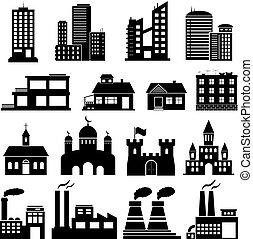 Building Icons Set