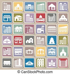 building icons set Sticker