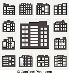 Building Icons Vector illustration