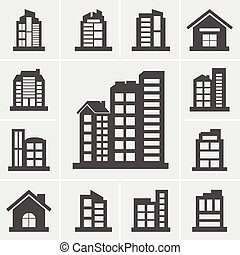 Building Icons Vector illustration set