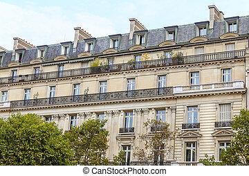 Building in Avenue des Champs Elysees, Paris, France